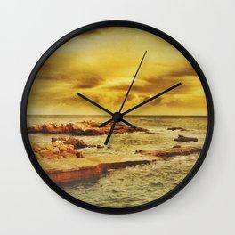 Autumn Sunset Wall Clock