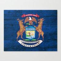 michigan Canvas Prints featuring Michigan by C Liza B