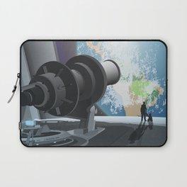 Horizon Lunary Colony Travel Poster Laptop Sleeve
