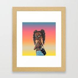 Susie Summer Color Framed Art Print