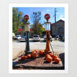 Pumpkin Gas Art Print