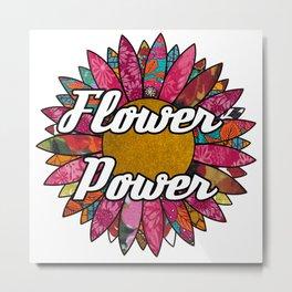 Flower Retro Flower Metal Print