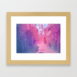 Naha Red Light Disctrict Framed Art Print