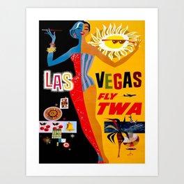 Vintage poster - Las Vegas Art Print