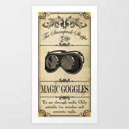 Steampunk Apothecary Shoppe - Goggles Art Print