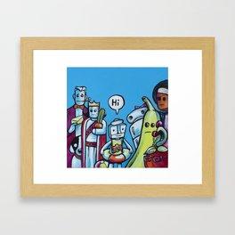 "Everyone Says ""Hi"" Framed Art Print"