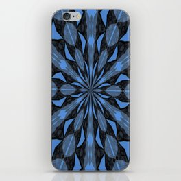 Blue Steel and Black Fragmented Kaleidoscope iPhone Skin