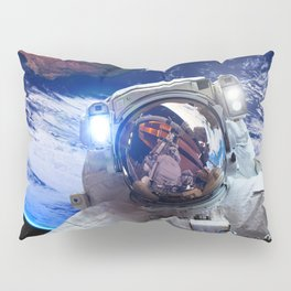 Astronaut in orbit #4 Pillow Sham