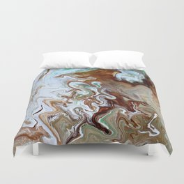 Milk Chocolate with peppermint & cream 3 Duvet Cover