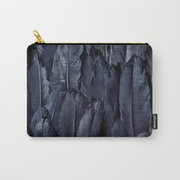 Black Feather Close Up Carry-All Pouch
