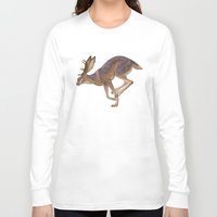 jackalope Long Sleeve T-shirts featuring Jackalope by Sadé Hickman