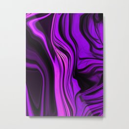 Purple Abstract Desgn Artwork Metal Print