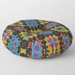 Granny Squares Retro Crochet Afghan Blanket Floor Pillow