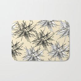 Black and White Squiggles Bath Mat