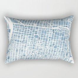 Philadelphia City Map Rectangular Pillow