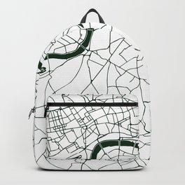 London White on Green Street Map Backpack