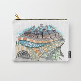 Meandering Landscapes: Loose Spiral Carry-All Pouch