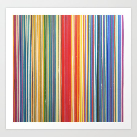 STRIPES 9 Art Print