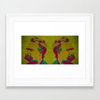 nietzsche Framed Art Prints featuring Friedrich Nietzsche by AngelaCorrin