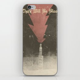 There will be blood, alternative movie poster, Daniel Day Lewis, Paul Thomas Anderson, Paul Dano iPhone Skin