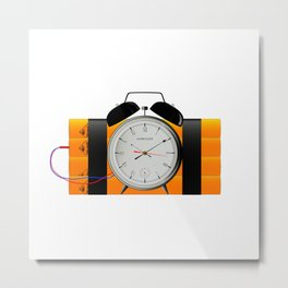 Time Bomb Metal Print