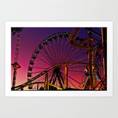 Sunset in the fair Art Print