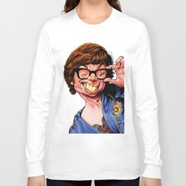 Austin Power, Mike Myers, color Long Sleeve T-shirt