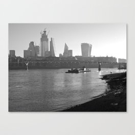 Low Tide on the Thames Canvas Print
