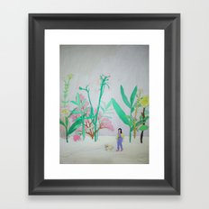 i'm lost in your garden with my sheep. Framed Art Print
