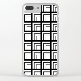 Geometric Squares Clear iPhone Case