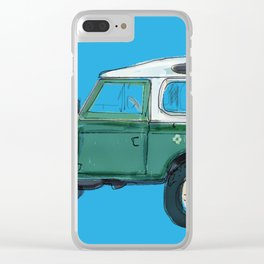 Green Vintage Rover Clear iPhone Case