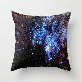 Beautiful Celestial Starscape Throw Pillow