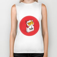 cigarettes Biker Tanks featuring YOLO Cigarettes  by RJ Artworks