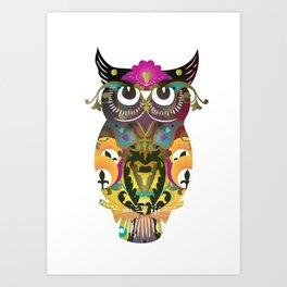 Decorative Owl Art Print