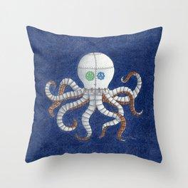 Octopus Steampunk Art Throw Pillow