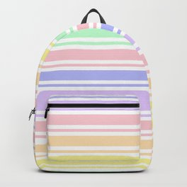 Pastel Rainbow Stripes Backpack