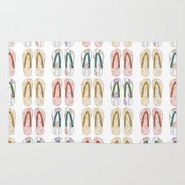 Multi-colored slates, flip-flops Rug