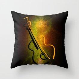 Guitar M-o-L Throw Pillow