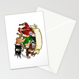Peter Pan and the pirates emblem Stationery Cards