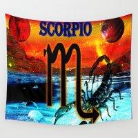 scorpio Wall Tapestries featuring Scorpio by LBH Dezines