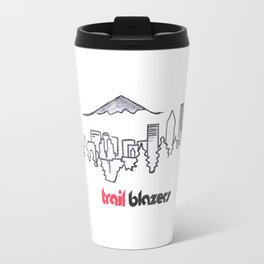 TRAIL BLAZERS HAND-DRAWING DESIGN Travel Mug