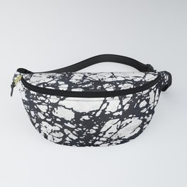 Messy Marbled Black Lines Fanny Pack