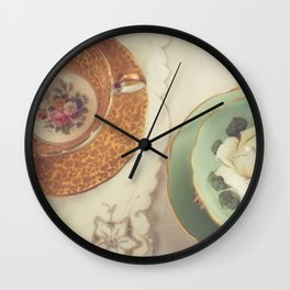 Two Teacups Wall Clock