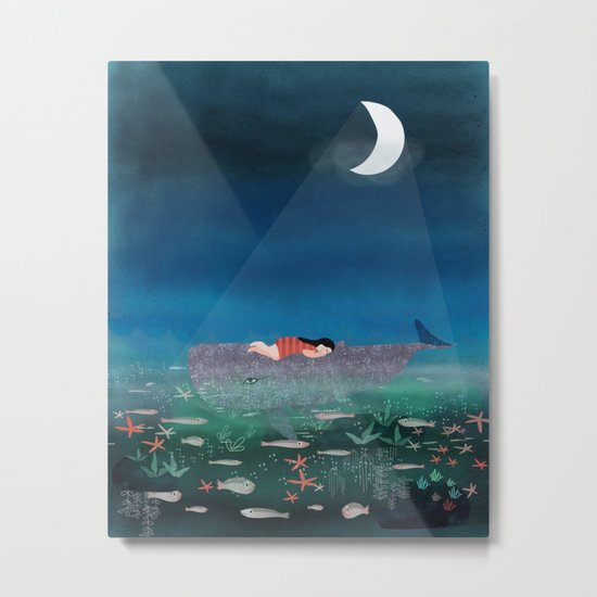 Dream With The Whale Metal Print