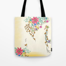Vibrant Floral to Floral Tote Bag
