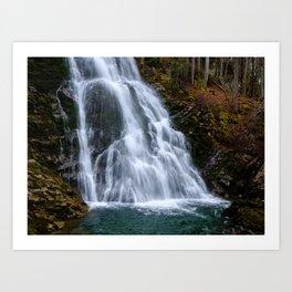 Giessbach waterfall in spring. Brienz, Switzerland Art Print