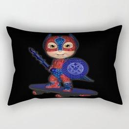 The Masked Avenger .. fantasy art  Rectangular Pillow