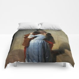 The Kiss (Il Bacio) - Francesco Hayez 1859 Comforters