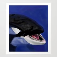 killer whale Art Prints featuring Killer Whale by TMootrey