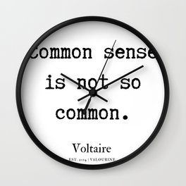 7      Voltaire Quotes   190815 Wall Clock